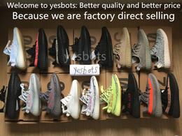 Wholesale Orange Tint - 2018 best blue tint Boost 350 V2 Zebra Cp9654 Orange Grey Beluga 2.0 AH2203 Black Red Bred CP9652 Kanye West Running Shoes For Sale