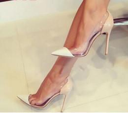 chaussures en plastique Promotion tendances de la mode femmes patchwork clair pompes PVC transparent talons hauts perspex stiletto gelée en plastique talons robe de soirée chaussures femme