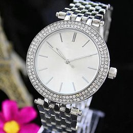 Wholesale Michael Diamonds - Luxury GENEVA Watches Womens Diamonds Watches Bracelet Ladies Designer Wristwatches 3 Colors Free Shipping michael watch