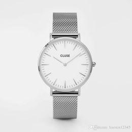 Wholesale Women Watch Leather Band - Casual watch Famous Brand Quartz-Watch Men Women khaki Leather Band Wrist Watches Relojes Montre Erkek Kol Wristwatch CL18111
