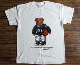 2019 рисование очков Старинные футболки 90 - х поло медведь баскетбол спорт репринт