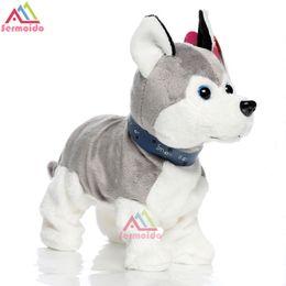 Wholesale Cute Huskies - Electronic Pets Sound Control Robot Dogs Bark Stand Walk Cute Interactive Dog Electronic Husky Poodle Pekingese Kids Toys B234