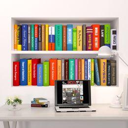 Wholesale Kids Sticker Books - 3d Book Bookshelf Funny Living Room Kids Bedroom Study Decorations Wall Sticker Home Decor Poster Mural Wallpaper