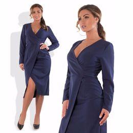 2018 Winter Dress Plus Size Women Clothing High Slit Deep V Neck Party  Dresses Bodycon Sexy Club Dress 5XL 6XL Big Size Vestidos D18110604 223b6d3b0
