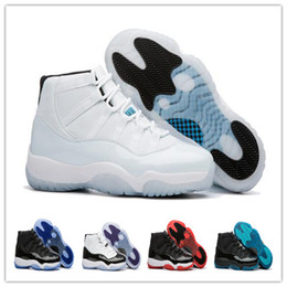 Wholesale Women Red Boots - 2017 Retro 11 Space Jam Legend Blue Bred Basketball Shoes Sports Shoes Wholesale Concord Women mens 45 Trainers Athletics Boots Sneakers