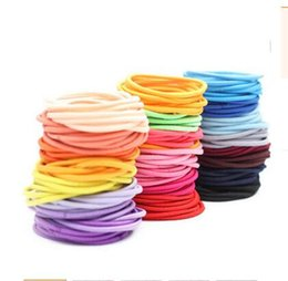 Wholesale Hair Tie Hairband Elastic - Girls Kids Hairband Women Hair Tie Accessories Elastic Rope Circle Candy Color Party Ponytail Holder Hair Rope Hairband Free Shipping