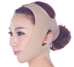 Wholesale Cheeks Face Lift - Thin face mask slimming face care skin Cheek slimming v-line face lift bandage New slim mask anti-sag beauty facemask HHA38