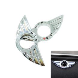 2019 faróis de besouro Frete Grátis 4 pçs / set 3D Car Styling Decalques Porta Adesivos de Decoração de Metal Mentira Asas de Adesivos de Carro Para BMW Mini