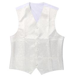 Wholesale ivory wedding waistcoats - New Mens Top Swirl Wedding Waistcoat (ivory white L UK 40)