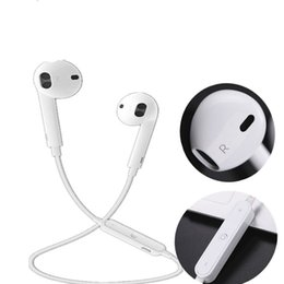 Wholesale Outdoor Headset - earphone S6 sports Bluetooth headset 4.1 stereo ear phone Cellphone in-ear Headset with Microphone outdoor sport running for smart phone