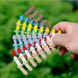 Jouets de clôture en Ligne-Mignon 9 couleurs Mini Fence Décoration d'intérieur Enfants Jouets Cadeaux de Noël de fantaisie Jouets pour adultes mariage Décorations H0118