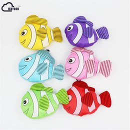 Wholesale Fishing Shopping - ISKYBOB Hot New 7 Colors Tropical Fish Foldable Eco Reusable Shopping Bags 38cm x58cm
