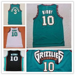 Wholesale best basketball shirts - Best Quality Vancouver 10# Mike Bibby Jersey 3# Shareef Abdur-Rahim Green Shirt Throwback Basketball Jerseys Arizona Wildcats College