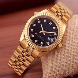 Wholesale Clock - 2018 top brand luxury watch men calendar black bay designer diamond watches wholesale high quality women dress rose gold clock reloj mujer