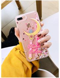 2019 розовые симпатичные чехлы для телефона YunRT любовь симпатичные Gril розовый Луна магия Фея Bling блеск Звезда динамический жидкий Зыбучих Песков чехол для телефона iPhone 6 6 S 7 8 Plus X Case скидка розовые симпатичные чехлы для телефона