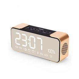 Wholesale Mp3 Player Alarm Clock Radio - Mini Bluetooth Audio Function Speakers 4.2 Protocol MP3 Cards Mirror Display Alarm Clock FM Radio Wireless Free Alarm Setting