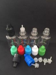 Bouteilles de gouttes en plastique les moins chères en Ligne-Moins cher E liquide bouteille 5 ml 10 ml 15 ml 20 ml 30 ml 50 ml PET vide en plastique flacon compte-gouttes avec coloré Childproof Caps long Thinper compte-gouttes