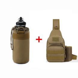 Wholesale bottle arts - Best-selling outdoor sports water bottle, thermos cup, outdoor sports kettle, tactical water bottle, outdoor sports bag, single shoulder bag