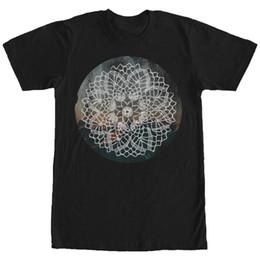 Gráficos circulares online-Lost Gods Henna Circle Landscape Mens Graphic T Shirt Hombres 2018 Verano Cuello redondo