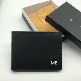 Nouveau modèle d'affaires de mode porte-monnaie court MT clip MB luxe cadeau sac carte de crédit porte-monnaie photo de poche M B portefeuille de haute qualité ? partir de fabricateur