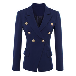 pulsanti di blazer designer Sconti ALTA QUALITÀ New Fashion 2017 Blazer  Giacca da donna Bottoni in 3be1c25a24e