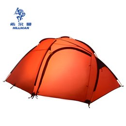 Wholesale cycling tent - Hillman 3-4 person aluminum rod 2 layer 4 season professional waterproof anti wind hiking cycling beach outdoor camping tent