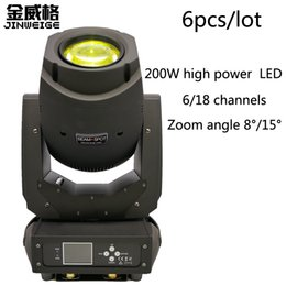 Wholesale Moving Head Lights China - Free Shipping 6PCS LOT 200W Led Moving Head Beam Spot zoom China Sharpy 200W Moving Head Led Stage Lights