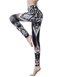 Wholesale Design Dance Pants - 2017 New Design 3D Printed Yoga Leggings Elastic Waist Moisture Wicking Sports Fitness Pants Female Gym Dance Trousers Plus Size