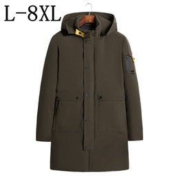 603d298eb69de Size 6XL 7XL 8XL 2018 New Hooded Long Winter Jacket Men Thick Warm Parkas  Man Coat Outerwear Zipper Jackets Male Parka Coats