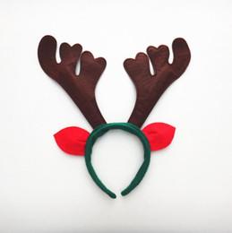 Argentina Ciervo cornamenta cuerno navidad cuerno diadema con orejas Navidad sombreros reno cuernos jingle bells hairband LX3814 Suministro
