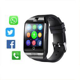 Bluetooth Smart Watch Men Q18 con touch screen grande supporto per batteria TF Sim Card per Android Phone Smartwatch da