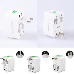 Wholesale Apple Travel Converter - All In One Universal International Plug Adapter Port World Travel AC Power Charger Adapter With AU US UK EU Converter Plug
