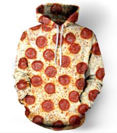 2019 hoodie de pizza Mais recente Moda Feminina / Homens Queijo Pizza De Salsicha Harajuku Estilo Engraçado 3D Impressão Casuais Hoodies Unisex Plus Size KK213 desconto hoodie de pizza
