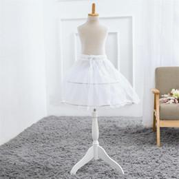 Nouveaux Jupons Court Blanc Accessoires De Mariage Enfants petites filles 2 Cerceaux Enfants Crinoline Jupon Pour Robe De Fille De Fleur ? partir de fabricateur