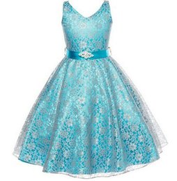 Wholesale Beaded Silk Taffeta Ball Gowns - 2018 New Princess Party Dresses Summer Baby Girl Dresses Kids' Girls Girl's Dresses Teenage Clothing Ball Gown Dress Suit