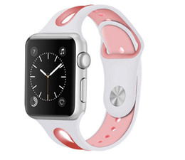 Argentina Banda deportiva para correa de reloj de Apple Silicona 42 mm caucho pulsera deportiva para Apple Watch iwatch 3/2/1 38MM Correas de reloj Accesorios cheap apple iwatch accessories Suministro