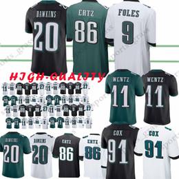8ad979640d8 11 Carson Wentz Philadelphia Eagle jersey 9 Nick Foles 86 Zach Ertz 27  Malcolm Jenkins 20 Brian Dawkins Jerseys t shirt philadelphia eagles jerseys  for sale