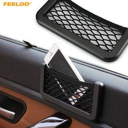 rede elástica de carga Desconto FEELDO Car Malha Saco De Armazenamento De Carga Net Titular Tronco Auto Elastic Storage # 5395