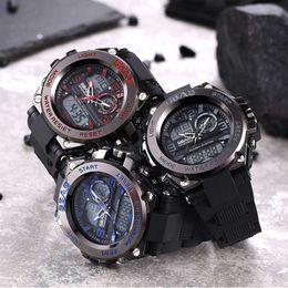 Alto metro para niños online-Relojes de alta calidad para hombre Relojes inteligentes de primeras marcas Reloj elegante de cuarzo de lujo 30 metros Pantalla de luz de fondo impermeable Reloj de pulsera
