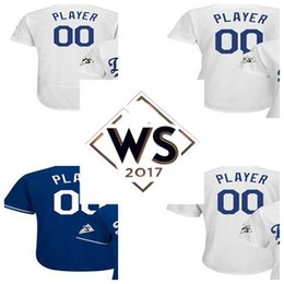 Wholesale Custom Cooling - Los Angeles 2017 WS Patch Personalized & Custom Any Player Number Cool Flex Baseball Jerseys Mens Womens Kids All Stitched