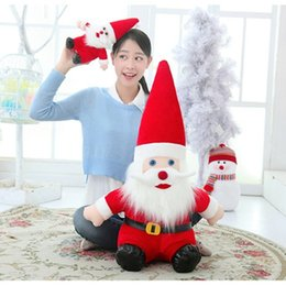 brinquedos de papai noel Desconto Chapéu De Papai Noel Vermelho Dos Desenhos Animados Recheado De Pelúcia Brinquedos Boneca Best-Seller De Natal Macio E Confortável Fabricantes Direto De Presente De Santa