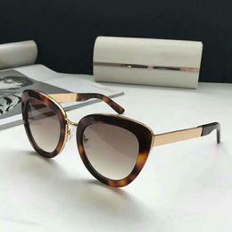 62427b7d837 Women TPVED Cat Eye Sunglasses Gold Havana Brown shaded 54MM 2018 Designer  SunGlasses Outdoor Beach Eyewear New with Box