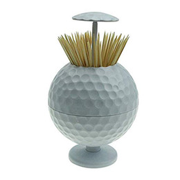 neuheit golfbälle Rabatt CRESTGOLF Golfball geformt automatische Pop-up Zahnstocher Inhaber Neuheit Geschenk Golf Dekoration