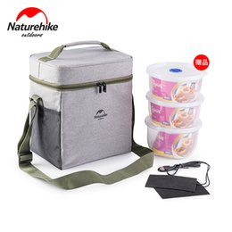Wholesale Lunch Bag Backpack - Wholesale-Naturehike camping picnic bag with Crisper + USB heater Lunch Box Drink Food Insulated Thermal Snack food box Tote