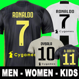 Thai New 2019 RONALDO JUVENTUS Soccer Jersey 18 19 JUVE 2018 Home Away DYBALA Camisetas Futbol Camisas Maillot Football Shirt men women kids