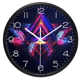 Wholesale Modern Style Decorating - Six Style Technology Black Series Scientific knowledge Wall Clock Modern Design , Living Room Brief Clock Home Decorate