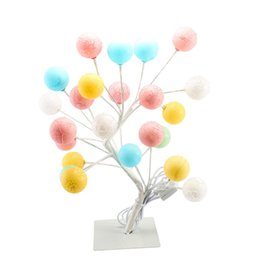 Wholesale table for painting - LArtificial flowers Tree Light lamp led Table Lamp Switch control US EU plug for Home Wedding Bedroom Indoor Decoration