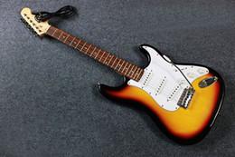 2019 guitarras de prática Frete grátis Ordinária ST três guitarra pickup iniciantes prática guitarra guitarras de prática barato