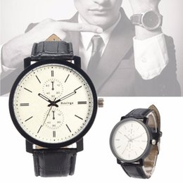 Wholesale Cheap Big Dial Watches - Fashion Korean Watch Leather Strap Casual Watches Men Women Big Dial Quartz Wrist Watch Lovers' Clock Harajuku Style Brown Cheap