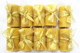 2019 großhandel bienenschmuck NEUE Natürliche Bienenwachs Kerze Gesunde Umweltfreundliche Kerze Dekoration Kreative Geschenk Kostenloser versand großhandel günstig großhandel bienenschmuck